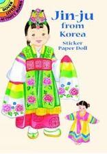 Paper Doll, Sticker: JIN-JU FROM KOREA, 26 stickers, hanbok, court dancer, more