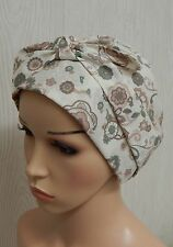 Cotton head covering for chemo cancer head wrap cap hair loss bonnet head scarf