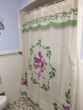 Springtime Victorian Flower Bouquet Bathroom Shower Curtain Vintage Floral Decor