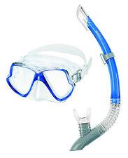 Mares Zephir Schnorchelset Tauchermaske mit Schnorchel Blau für ihren Urlaub