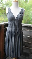 Marc by Marc Jacobs Gray Knit Pleated Empire Waist Cotton Sleeveless Dress XS