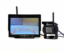 "Wireless Telecamera Retromarcia + 7 ""LCD Monitor a Colori 2,4 GHz per Van Camion 12V-24V"