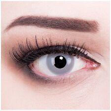 Farbige Halloween Kontaktlinsen Zombie Grey grau graue ohne Stärke Crazy Fun