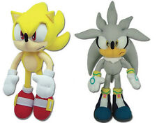 NEW GE Sonic the Hedgehog Stuffed Plush Toys Set of 2 - Super Sonic & Silver