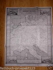 1847 EISENBAHNKARTE MITTELEUROPA  POST SCHIFF REISE BÜHLER BRESLAU PRAG PARIS104