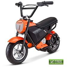 Mongoose Mini Electric Bike Scooter Rechargeable Battery Powered Ride On Toy