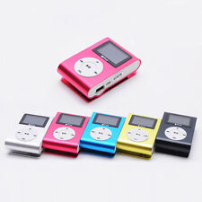 Mini USB Clip MP3 Player iPods LCD Bildschirm Support 32GB Micro SD TF Karte