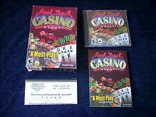 REAL DEAL CASINO QUEST (2002) PC CD-ROM NEW CD NEVER OPENED