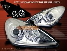 2002-2003 LEXUS ES300 / 04-06 ES330 PROJECTOR HEADLIGHTS CCFL TWIN HALO CHROME