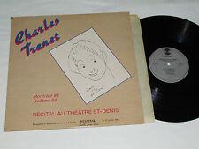 CHARLES TRENET Recital Theatre St-Denis LP Montreal 1983 Juste Pour Rire Concert