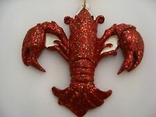 ORNAMENT Crawfish Fleur De Lis Christmas favor Crawdad cajun New Orleans floor