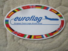 AUTOCOLLANT STICKER AUFKLEBER EUROFLAG FLA AIRBUS MILITARY A400M AIRLIFTER