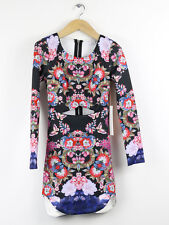 BNWT Ginger Fizz Black Floral Madam Butterfly Cut Out Body Con Dress XS (UK 8)