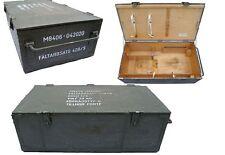 Schwed. Transportkiste 93 x 49 Holz S68 oliv gebraucht Lagerkiste Werkzeugbox