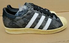 RARE ADIDAS SUPERSTAR 80's LIMITED EDITION TRAINERS SIZE 6 UK BLACK SNAKE SKIN