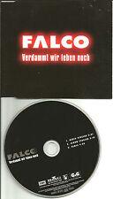 FALCO Verdammt wir leben noch w/ RARE REMIX & RADIO VERSION CD Single 1999