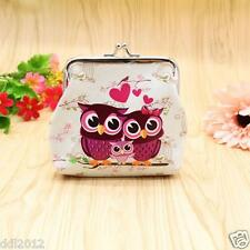 Women Lady Retro Vintage Owl Leather Small Wallet Hasp Purse Coin Clutch Bag New