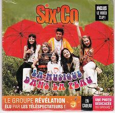 CD CARTONNE CARDSLEEVE SIX'CO LA MUSIQUE DANS LA PEAU 2T + VIDEO NEUF SCELLE
