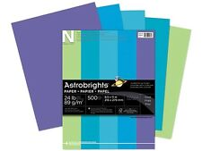 Wausau Paper 20274 Astrobrights Colored Paper, 24lb, 8-1/2 x 11, Cool Assortment