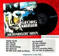 LP Georg Kreisler: Nichtarische Arien (Preiser 1C 062-91 766) D 1966