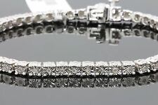 .33 CT WOMENS/MENS WHITE GOLD FINISH FANOOK DIAMOND 1 ROW LINK TENNIS BRACELET