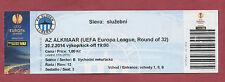 Orig.Ticket   Europa League  13/14  SLOVAN LIBEREC - AZ ALKMAAR  !!  SELTEN