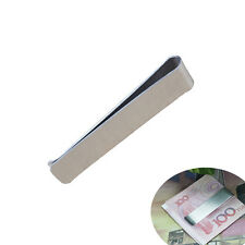 Stainless Steel Pocket Cash Money Clip Holder Wallet Long Slim 2.8 Silver New
