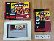 Super Nintendo SNES Super Pinball Behind The Mask PAL