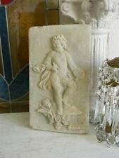OMG!~Shabby Chippy CONCRETE CHERUB Hanging Stepping Stone~French Garden Decor