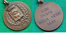 MEDAGLIA CITTA' DI BIELLA / XVIII FESTA DELLA NEVE 1971 - PIEMONTE -