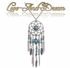Collier attrape-rêve, bohème, argenté | Bohemia Dreamcatcher Necklace Silver