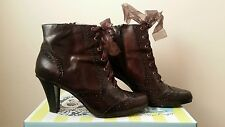 Hush puppies heeled leather ankle boots 7