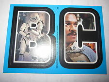 STAR WARS HERITAGE TOPPS STICKERS B & C CARD CHASE RARE MINT 2004 BLUE N° 22