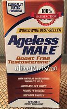 Ageless Male Testosterone Booster 60 Tablets Expires JANUARY 2019 Brand New