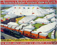 Barnum & Bailey Greatest Show on Earth Circus Poster 10x8 Inch Reprint
