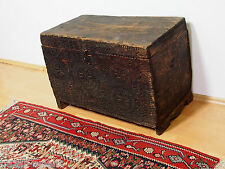 antik Holz truhe Schatztruhe Antique wooden Nuristan Storage Chest 18/19.Jhd N-D