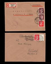 WWII Germany Hitler Head Jumble COLLECTION #1 Registered Feldpost Covers  6q