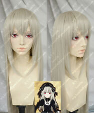 Rozen Maiden COS wig New sexy Long Gray Blonde Cosplay Straight wig+hairnet