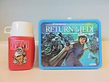 Star Wars Original Vintage 1983 Return of the Jedi Lunch Box & Thermos Complete