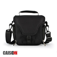 Black Digital Shoulder Camera Bag Case For Panasonic Lumix DMC FZ72 FZ200 GX80