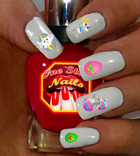 Easter Waterslide Nail Decals with Bunny, Flowers, Eggs E001-64