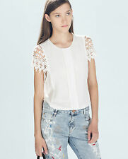 ZARA WHITE COMBINED TOP SIZE M - BNWT