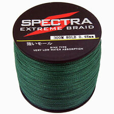 300M 80LB/0.48mm Moss Green Spectra Super Strong Dyneema Braided Fishing Line
