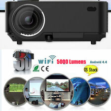 4K 3D Wifi DLP Mini Portable Full HD 1080P Home Theater Projector HDMI USB LEDYX