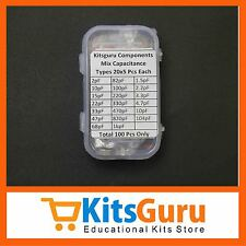 110 Pcs 50 Volt Mix Capacitance Pack (Type 20X5 Pcs. Each)  KG290