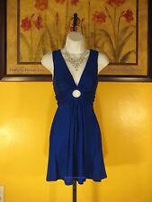 NWT  Arden B. Sea Blue O-Ring Halter Dress Size S