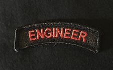 ENGINEER TAB TACTICAL USA ARMY VELCRO® BRAND BLACK OPS RED MORALE BADGE PATCH
