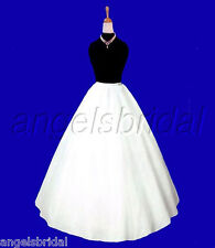 A-LINE SEMI-FULL HOOPLESS BRIDAL WEDDING GOWN PETTICOAT CRINOLINE SKIRT SLIP NEW