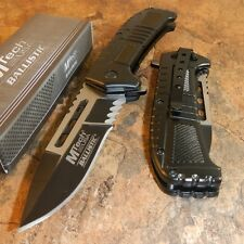 MTech BALLISTIC SPEED Assisted Opening BLACK and WHITE Linerlock Knife NEW!!