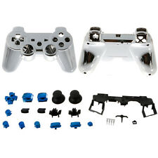 New Plastic&Metal Plated Full Housing Shell Case Button for PS3 Controller